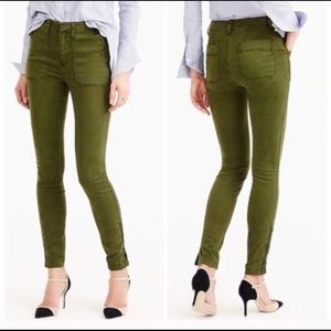 J Crew Ankle zip Skinny Utility Chino Pants